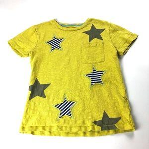 Mini Boden yellow star tee